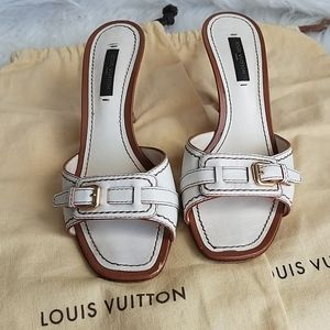 Louis vuitton buckle open sandals shoes